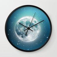 Wall Clock featuring Luna by Good Sense