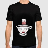 Tea (for zombies) Mens Fitted Tee Black SMALL