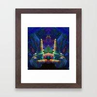 Sea Creature #2: The Shy Snailman Framed Art Print