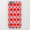 Lattice Stars in Red iPhone & iPod Case