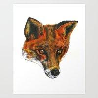 Foxy! Art Print