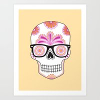 sugar skull #bonethug Art Print