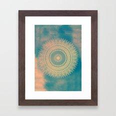 GOLDEN SUN MANDALA Framed Art Print