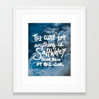 Saltwater Framed Art Print