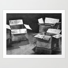 Three 'Ole Boxes Art Print