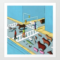 Urban Animals Art Print