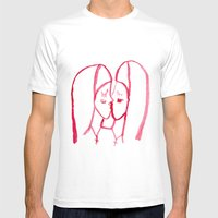 Kissing Nuns Mens Fitted Tee White SMALL