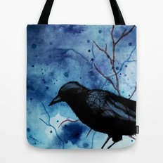 Crow Veins Watercolor/Pen & Ink Tote Bag