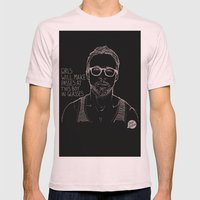 Hey Girl, The Gosling Mens Fitted Tee Light Pink SMALL