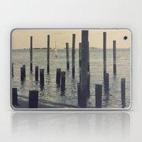 Pier Pilings in Southport Harbor Laptop & iPad Skin