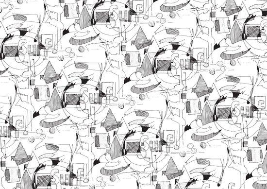 Drawing Collage Art Print
