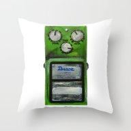 Ibanez TS-9 Tube Screame… Throw Pillow
