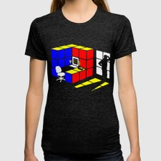 Rubix Cubicle Womens Fitted Tee Tri-Black SMALL