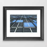 Solar Panel Wall Framed Art Print