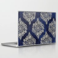 Cream Floral Moroccan Pa… Laptop & iPad Skin