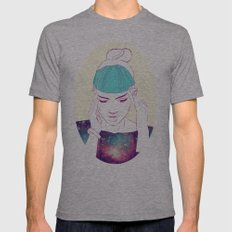 GRIMES Mens Fitted Tee Athletic Grey SMALL