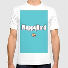 Flappy Bird White Mens Fitted Tee SMALL