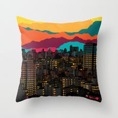 Fragmented III VI Throw Pillow