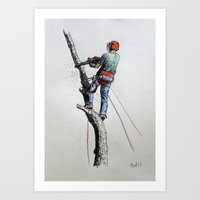 Arborist ,Tree Surgeon U… Art Print