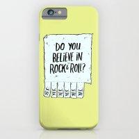 iPhone & iPod Case featuring Believe in Rock & Roll by Josh LaFayette