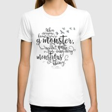 Six of Crows - Monster - White Womens Fitted Tee White SMALL