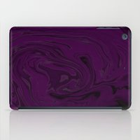 Black And Purple Swirls  iPad Case