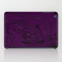 black and purple swirls  iPad Case