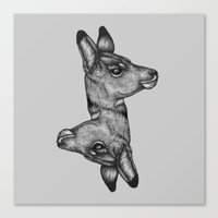 Antelope Heads Canvas Print