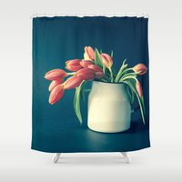 Thinking of You - Sending Tulips Shower Curtain