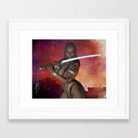 Samurai Warrior Sword Gi… Framed Art Print