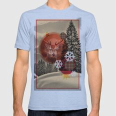 Christmas scene. Mens Fitted Tee Athletic Blue SMALL