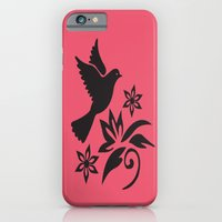 iPhone Cases featuring Bird Flower by ArtSchool