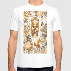 The Queen of Pentacles Mens Fitted Tee White SMALL