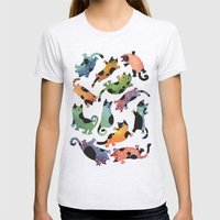12 Cats Womens Fitted Tee Ash Grey SMALL