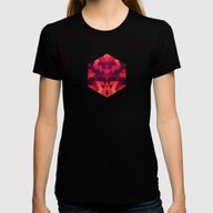 Abstract  Geometric Tria… Womens Fitted Tee Black SMALL