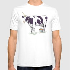 UNICOWRN SMALL Mens Fitted Tee White
