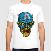 Zombie America Mens Fitted Tee White SMALL