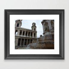 Parisian Fountain Framed Art Print