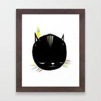 MIGHTY TIGARRR, BLACK KI… Framed Art Print