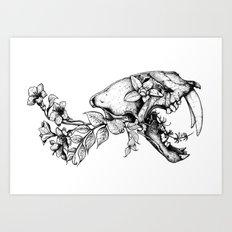 Prehistoric Bloom - The Cat Art Print