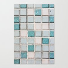 Turquoise Blue Tile Pattern Canvas Print