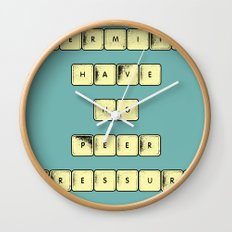Hermits (Have No Peer Pressure) Wall Clock
