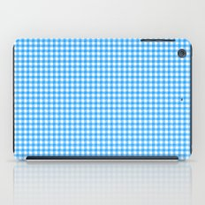 Picnic Pals gingham in blueberry iPad Case