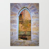 Window in Ruins Canvas Print