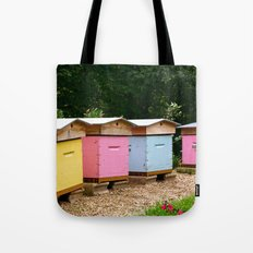 Colourful Beehives of the Grande Jatte. Tote Bag