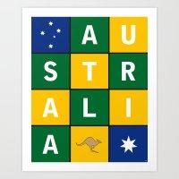 Australia Vintage Art Print Poster Art Print