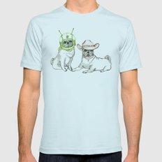 Cowboys & Aliens Mens Fitted Tee Light Blue SMALL
