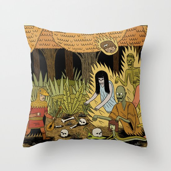 The Woodland Ghosts Throw Pillow