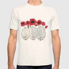 Poppy Girls Mens Fitted Tee Natural SMALL
