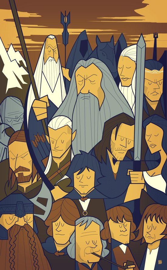 The Fellowship of the Ring Art Print